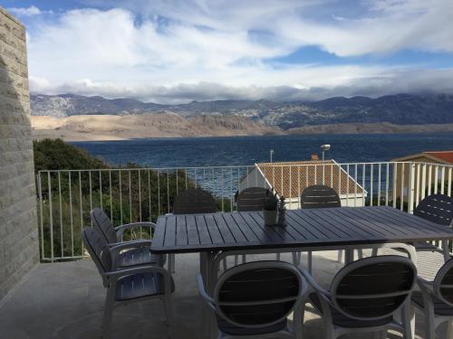 Villa Pag - Balkon mit Meerblick