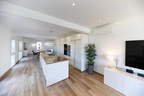 Villa Pag - Wohnzimmer mit Meerblick