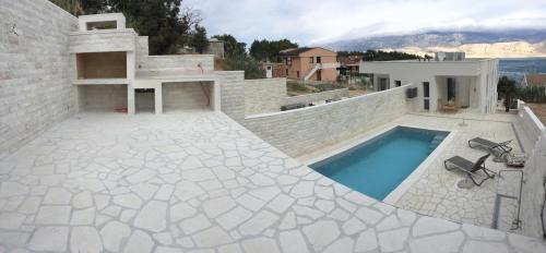 Villa Pag - Pool mit Meerblick